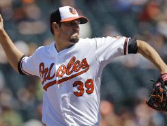 Orioles' Jason Hammel faced the minimum 21 batters through seven innings against the Twins.