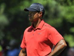 Tiger Woods struggled throughout the Masters, closing Sunday with a 2-over 74 to leave him at 5 over.