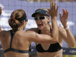 Kerri Walsh, right, and partner Misty May-Treanor have won gold at the past two summer Olympics and are consistently ranked among the top beach volleyball duos in the world.
