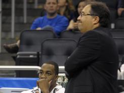 Magic coach Stan Van Gundy and star center Dwight Howard have not always seen eye to eye this season, with Van Gundy going so far as to say Howard asked to get him fired.