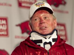 Arkansas football coach Bobby Petrino is on paid leave.