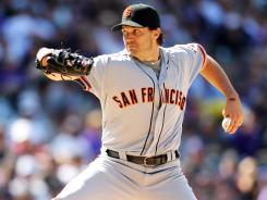 Barry Zito threw a scoreless nine innings against the Rockies on Monday, for his first shutout since 2003, the year after he won the AL Cy Young Award.