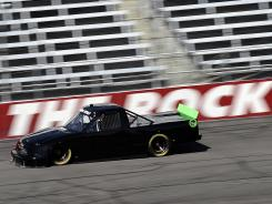 James Buescher, driver for Turner Motorsports, tests at Rockingham Speedway on March 6. The Camping World Truck Series will race at the North Carolina track on Sunday.