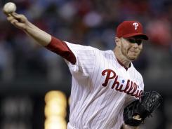 Philadelphia pitcher Roy Halladay allowed one run and five hits, striking out three in the Phillies' 7-1 win over the Marlins on Wednesday in Philadelphia.