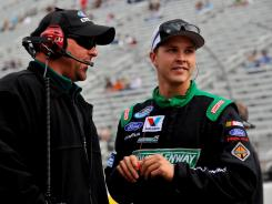 Trevor Bayne is fourth in Nationwide Series points but will fall in the standings after Friday's race at Texas, where he is not entered.