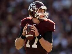 Texas A&M QB Ryan Tannehill seems to be rising up draft boards this spring.