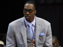 Orlando Magic center Dwight Howard has been a spectator the past week with a herniated disk.