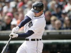 Tigers' Brennan Boesch drove in four runs on his 27th birthday.