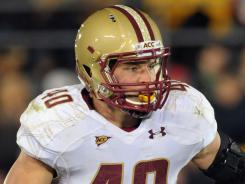 "Linebacker Luke Kuechly draws rave reviews from his Boston College coaches and NFL draft gurus alike. ""He's one of two or three 