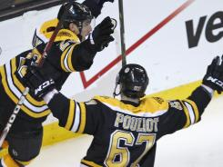 Kelly's heroics lead BRUINS in Game 1