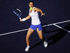 Sara Errani played in Indian Wells, Calif., last month. Friday, the Italian star moved into the semifinals of the women's event in Barcelona, Spain.