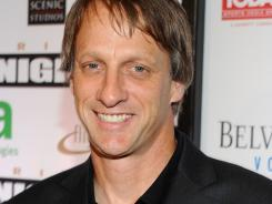 Professional skateboarder Tony Hawk arrives at Muhammad Ali's Celebrity Fight Night XIII held in Phoenix on March 24.