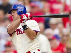 Ty Wigginton drove in four of the Phillies' season-high eight runs.