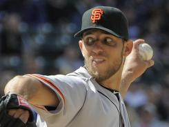 Giants pitcher Madison Bumgarner is 21-20 during his major league career.