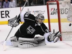 Los Angeles goalie Jonathan Quick had 41 saves in the Kings' shutout win over the Canucks on Sunday at Los Angeles.