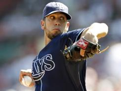 Rays' James Shields tossed 8 1/3 shutout innings in the win against the Red Sox.