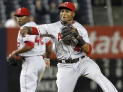 Los Angeles shortstop Erick Aybar won his first Gold Glove last season.