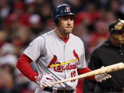 Cardinals' Lance Berkman was batting .348 with two RBIs in seven games before he was injured.