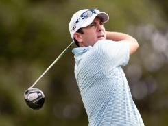 Ben Curtis plays a tee shot during the second round of the Valero Texas Open at the AT&T Oaks Course at TPC San Antonio on Friday in San Antonio.