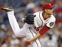 Nationals pitcher Ross Detwiler was dominant once again Friday, striking out seven batters over six innings while only allowing three hits. He is 2-0 on the season.