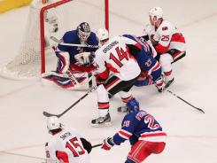 Rangers goalie Henrik Lundqvist was sharp, saving 28 shots and keeping the Senators in check, but it wasn't enough as New York was shut out.