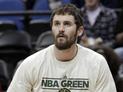 Minnesota Timberwolves power forward Kevin Love is sitting out the team's final two games despite being cleared to play.
