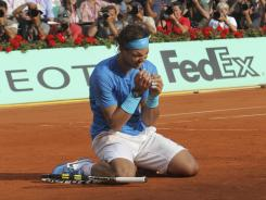 Rafael Nadal last year celebrates his sixth French Open title. Can he make it seven this year?