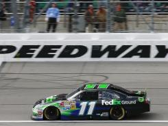 Denny Hamlin's win at Kansas Speedway on Sunday gives him two victories entering one of his favorite tracks — Richmond International Raceway, where he has finished in the top five in seven of his 14 Cup starts.