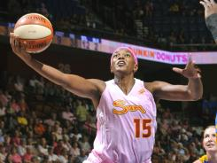 Connecticut Sun forward Asjha Jones helped the USA win gold at the 2010 World Championships. Jones will make her Olympic debut in London.