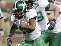 Running back Martin Ward was one of four Marshall players arrested this weekend.