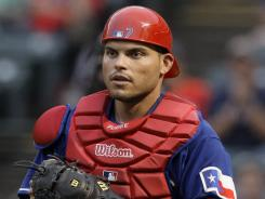Ivan Rodriguez played the first 12 of his 21 seasons with the Texas Rangers.
