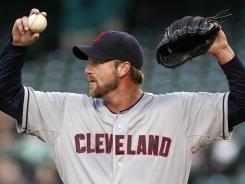 Derek Lowe is 2-1 in three starts with the Indians.