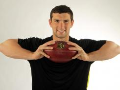 "Andrew Luck, a self-described ""nerd,"" eschews social media and uses an old Samsung flip phone."