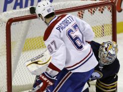 Montreal's Max Pacioretty scores on Buffalo Sabres goalie Ryan Miller during the shootout on Feb. 17.