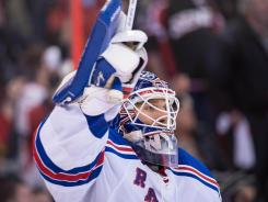 New York Rangers goalie Henrik Lundqvist had eight shutouts for the Eastern Conference's No. 1 team.