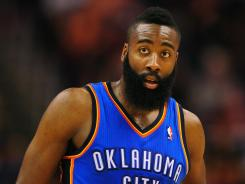 James Harden is the Thunder's third-leading scorer, averaging 16.8 points per game.