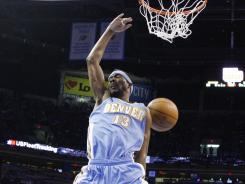 Corey Brewer chipped in 10 points to help the Nuggets to their seventh win in nine games.