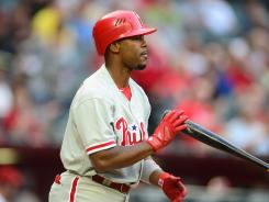 Jimmy Rollins was moved from leadoff to No. 3 in the batting order to make up for the loss of Ryan Howard and Chase Utley.