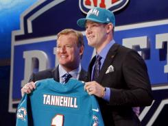 NFL commissioner Roger Goodell introduces Texas A&M quarterback Ryan Tannehill as the eighth overall pick by the Miami Dolphins.