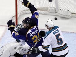 Patrik Berglund (21) has provided size and offense for the Blues.