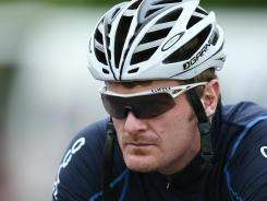 In this file photo from Nov. 4, 2010, Floyd Landis prepares for stage six of the Tour of Southland in Invercargill, New Zealand.