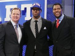 Rueben Randle, picked 63rd overall by the Giants, was the last NFL invitee in the green room.