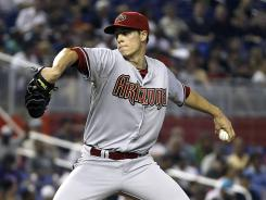 Diamondbacks' Patrick Corbin, who was called up from Double-A Mobile (Ala.), struck out six in 5 2/3 innings his debut.