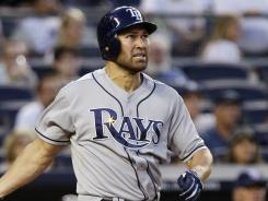 Johnny Damon has spent the past few weeks at the Indians' facility in Goodyear, Ariz. practicing his swing.