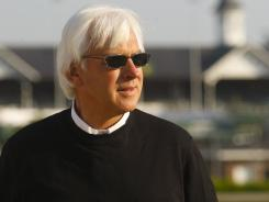 Trainer Bob Baffert is back at Churchill Downs after suffering a heart attack in late March.