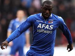 Jozy Altidore, who's enjoying a very successful season playing for Dutch club AZ Alkmaar, injured his head and back in a collision during a game Wednesday.