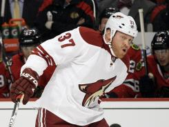 The Phoenix Coyotes' Raffi Torres was suspended 25 games, one of the longest in NHL history, for hitting the Chicago Blackhawks' Marian Hossa on the head on April 17.