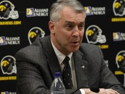Iowa athletics director Gary Barta also has had to deal with problems generated by training methods in football.