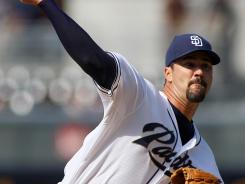Jeff Suppan threw five scoreless innings Wednesday against the Brewers to earn his first win since the 2010 season.