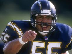 Junior Seau, shown here in 1995, was discovered wounded and unconscious in his home, just north of San Diego, by his girlfriend.